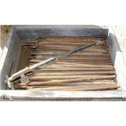 BOX OF STEEL CONCRETE PINS