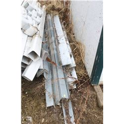 LOT OF LIGHT GAUGE STEEL ANGLE ASSORTED LENGTHS