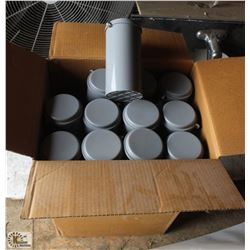 BOX OF CONCRETE TEST CYLINDERS