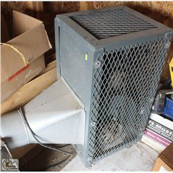 EXHAUST FAN IN CAGE ON WHEELS