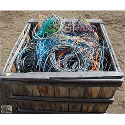 CRATE OF ASSORTED WIRE & ELECTRICAL