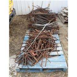 3 SKIDS OF ASSORTED 15MM REBAR CORNER PINS