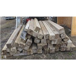 "LOT OF 6"" X 6"" TREATED POSTS"