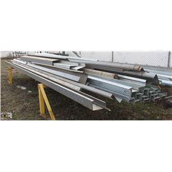 ASSORTED STEEL GIRTS, EAVE STRUTS &