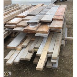 "LOT OF ASSORTED LENGTH 2"" X 4"" & 2"" X 8"""