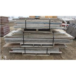3 STACKS OF ASSORTED CONCRETE FORMWORK PLYWOOD