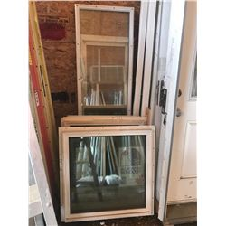 2 SEALED ALL WEATHER WINDOWS & SEALED UNIT DOOR
