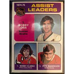 1975-76 Topps Bobby Clarke, Bobby Orr, Pete Mahovlich