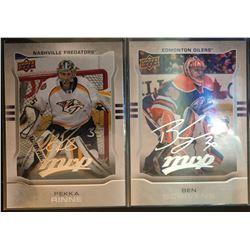 2014-15 MVP Silver Script Pekka Rinne Card #268, And