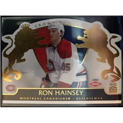 2002-03 Pacific Crown Royale Rookie Ron Hainsey #123