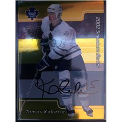 2002-03 In The Game Autographs Tomas Kaberle Card #050