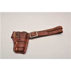 19FH-127 CARVED DBL LOOP HEISER HOLSTER