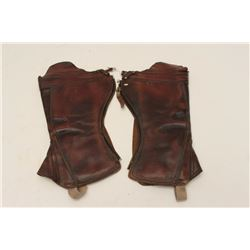17FK-2 PAIR OF LEATHER GAITERS