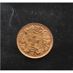 19GB-9 SWISS $20 FRANC 1935