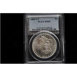 19GB-12 1882 CC SILVER DOLLAR