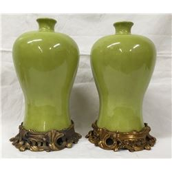 19GFE-104  PAIR OF MEIPING VASES
