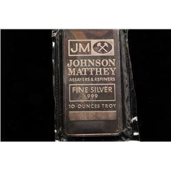 19GB-13 10 OZ. JOHNSON MATHEY SILVER BAR