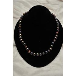 19RPS-14 BLACK PEARL NECKLACE