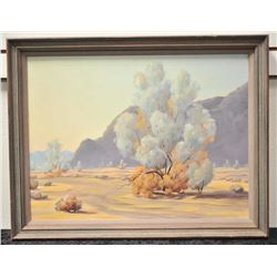 19FA-9 OIL ON BOARD OF DESERT SCENE