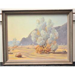 19FA-9 OIL ON BOARD OF DESERT SCENE