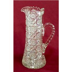 19GFE-49 BRILLIAN CUT GLASS TANKARD