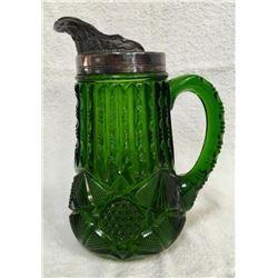 19GFE-54 EARLY AMERICAN PATTERN GLASS TANKARD