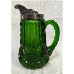19GFE-54 EARLY AMERICAN PATTERN GLASS TANKARD