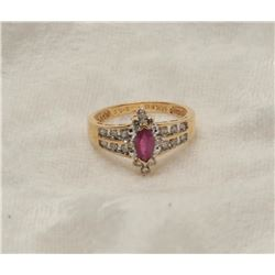 19RPS-9 RUBY  DIAMOND RING