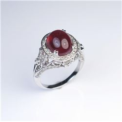 19CAI-42 RUBY  DIAMOND RING
