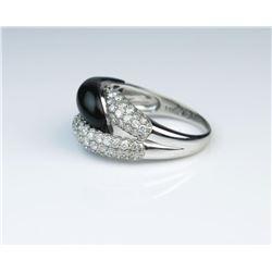 19CAI-25 ONYX  DIAMOND RING