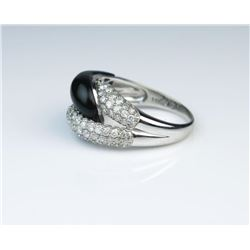 19CAI-25 ONYX  DIAMOND RING