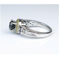 19CAI-26 BLACK  WHITE DIAMOND RING