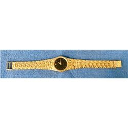 19GFE-34 MANS GOLD NUGGET WRIST WATCH