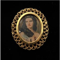 19RPS-5 PHOTO FRAME BROOCH OR PENDANT