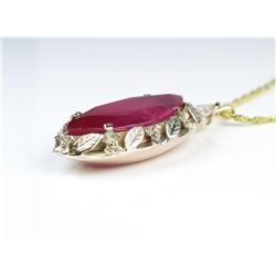 19CAI-4 RUBY  DIAMOND PENDANT