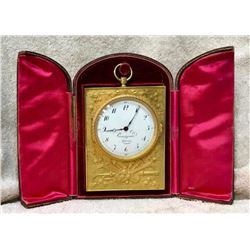 19GFE-6 GOLD GILT NAPOLEONIC CLOCK