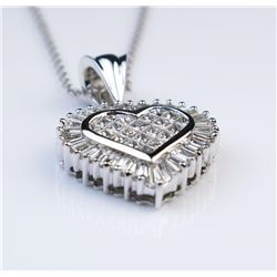 19CAI-16 HEART SHAPED DIAMOND PENDANT