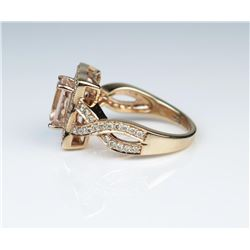 19CAI-17 LEVIAN MORGANITE  DIAMOND RING
