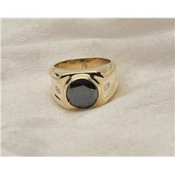 19RPS-11 MAN'S BLACK DIAMOND RING