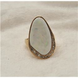 19RPS-7 OPAL  DIAMOND RING