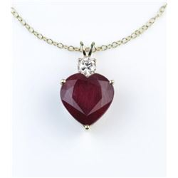 19CAI-20 RUBY  DIAMOND PENDANT