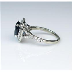 19CAI-21 SAPPHIRE  DIAMOND RING