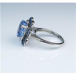 19CAI-7 LEVIAN BLUE SAPPHIRE  DIAMOND RING