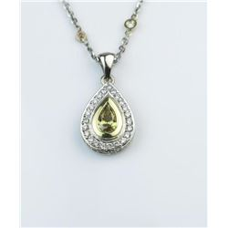 19CAI-8 YELLOW  WHITE DIAMOND PENDANT