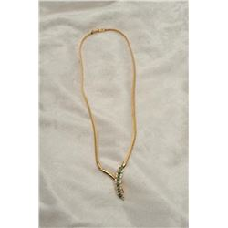 19RPS-2 EMERALD  DIAMOND NECKLACE