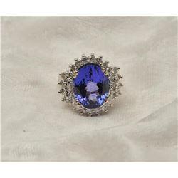 19RPS-17 TANZANITE  DIAMOND RING