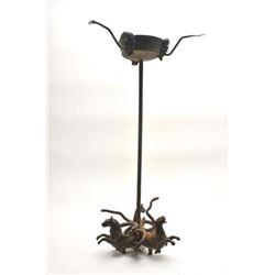 19VLE-6 ANCIENT ROMAN BRONZE OIL LAMP