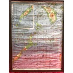 Flyer's Map Framed