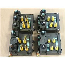 (4) SIEMENS ET200X BASE MODULES