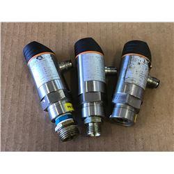 (3) IFM ELECTRONICS PN7024 PRESSURE SENSORS